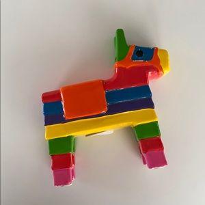 Kikkerland Donkey Piñata Piggy Bank Coin Bank
